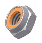 Inch Sizes - Nylon Insert - Jam Hex Nut Type