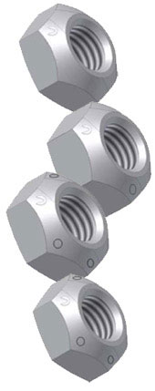 Inch Sizes - All-Metal - Cone Type Locknut