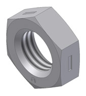 Metric - All-Metal Locknut - Jam Hex Center Lock ISO 4035, ISO 8675