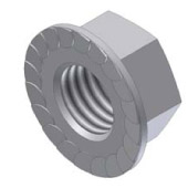 Free Spin - Serrated Flange Lock Nut